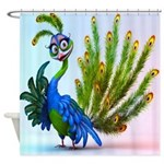 Prissy Peacock Shower Curtain