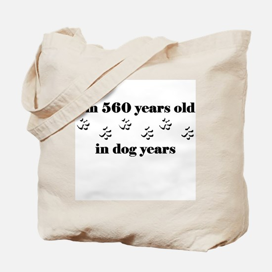 80 dog years 3-1 Tote Bag