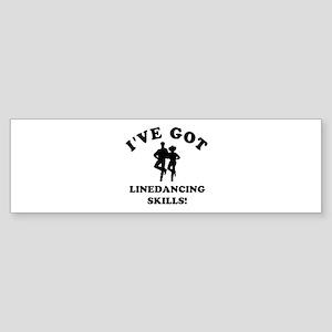 I've got line Dancing skills Sticker (Bumper)