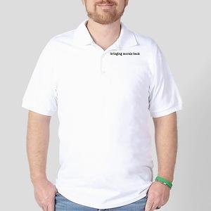 Bringing Morals Back (black t Golf Shirt