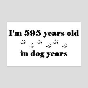 85 dog years 3-2 Wall Decal