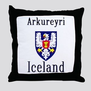 The Arkureyri Store Throw Pillow