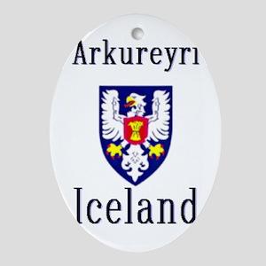 The Arkureyri Store Oval Ornament