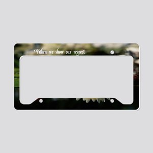 American Indian proverb License Plate Holder