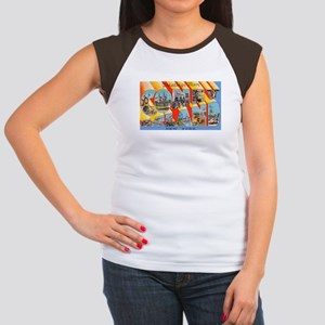 Coney Island New York (Front) Women's Cap Sleeve T