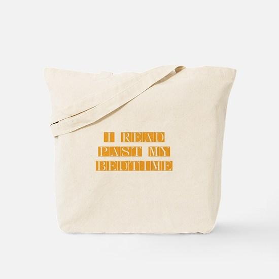 I-read-bedtime-FLE-ORANGE Tote Bag