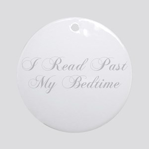 I-read-bedtime-cho-light-gray Ornament (Round)