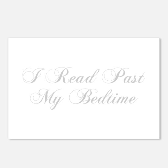 I-read-bedtime-cho-light-gray Postcards (Package o