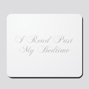 I-read-bedtime-cho-light-gray Mousepad