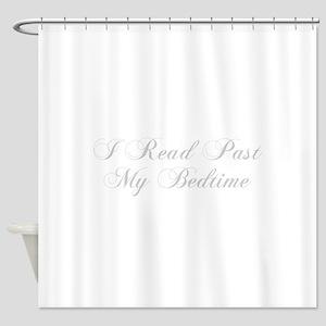I-read-bedtime-cho-light-gray Shower Curtain