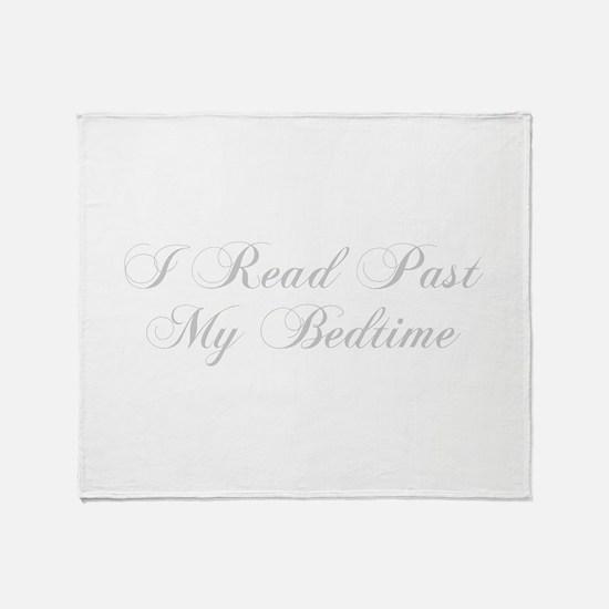 I-read-bedtime-cho-light-gray Throw Blanket