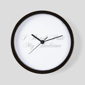 I-read-bedtime-cho-light-gray Wall Clock