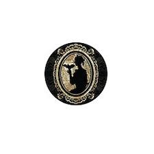 Portrait Of Lady With Bat Mini Button