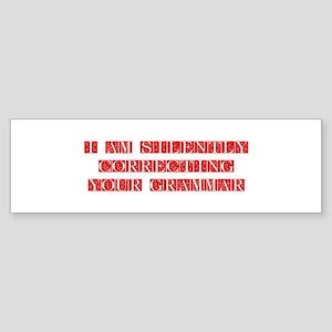 GRAMMAR-FLE-RED Bumper Sticker