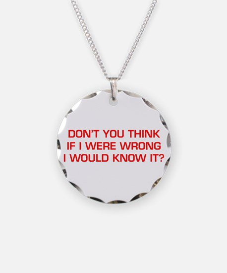 DONT-YOU-THINK-EURO-RED Necklace