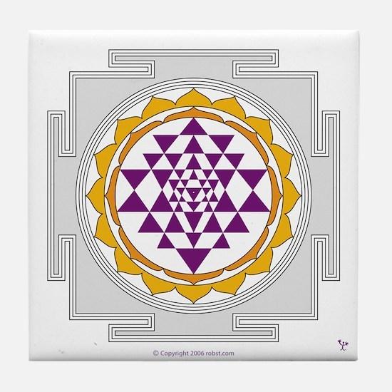 Sri Yantra Tile Coaster