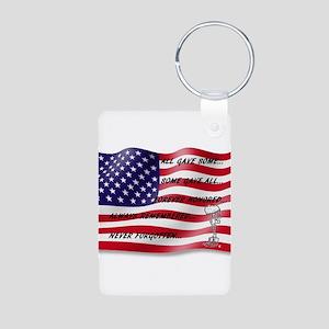 Never Forgotten Hero Flag Keychains