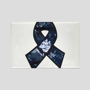 Navy Ribbon Magnets