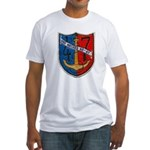 USS NECHES Fitted T-Shirt