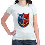 USS NECHES Jr. Ringer T-Shirt