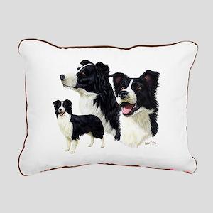 Border Collie Rectangular Canvas Pillow