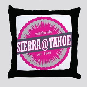 Sierra-at-Tahoe Ski Resort California Pink Throw P