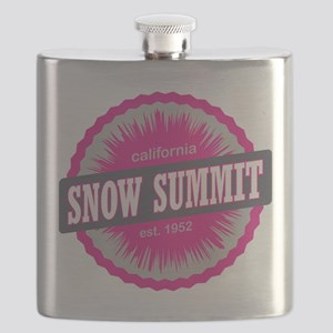 Snow Summit Ski Resort California Pink Flask