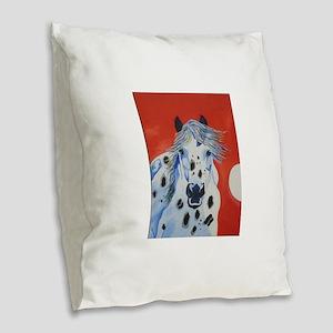 RT painting Burlap Throw Pillow