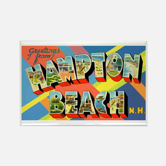 Hampton Beach New Hampshire Rectangle Magnet