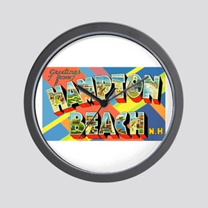 Hampton Beach New Hampshire Wall Clock
