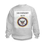 USS CHEPACHET Kids Sweatshirt