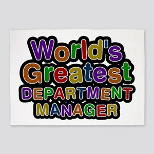 World's Greatest DEPARTMENT MANAGER 5'x7' Area Rug