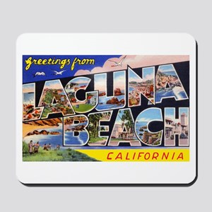 Laguna Beach California Greetings Mousepad
