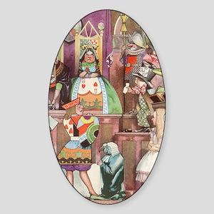 Vintage Alice in Wonderland Sticker (Oval)