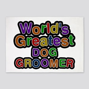 World's Greatest DOG GROOMER 5'x7' Area Rug