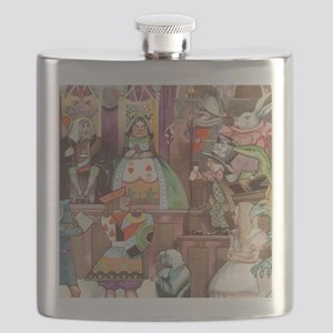 Vintage Alice in Wonderland Flask