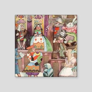 """Vintage Alice in Wonderland Square Sticker 3"""" x 3"""""""