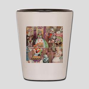 Vintage Alice in Wonderland Shot Glass