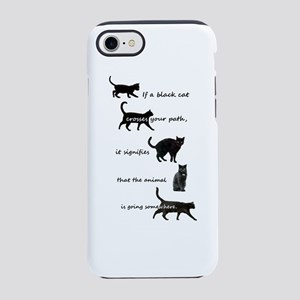 Black Cat Crossing iPhone 7 Tough Case