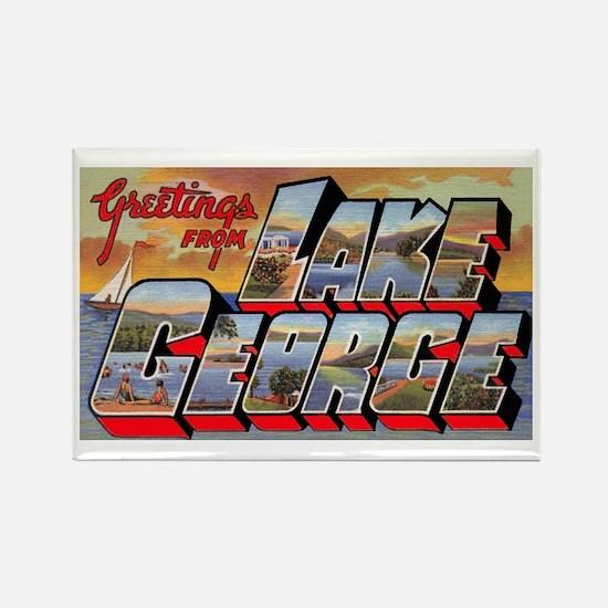 Lake George Greetings Rectangle Magnet