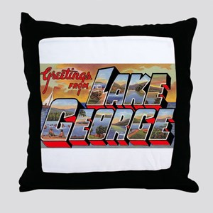 Lake George Greetings Throw Pillow