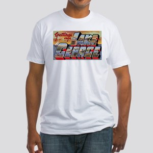 Lake George Greetings (Front) Fitted T-Shirt