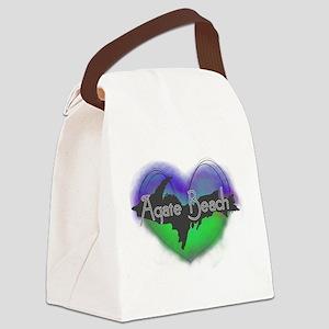 UP Aurora Agate Beach Canvas Lunch Bag