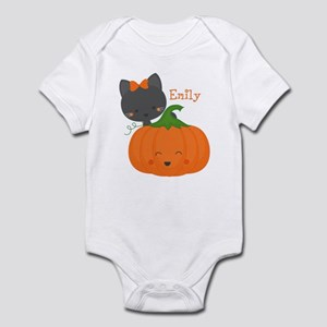 Kitty and Pumpkin Personalized Infant Bodysuit