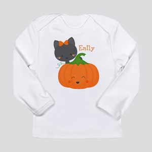 Kitty and Pumpkin Personalized Long Sleeve Infant