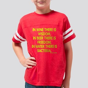 Blk_Wine_Wisdom_Beer_Freedom Youth Football Shirt