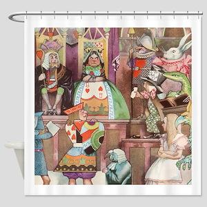 Vintage Alice in Wonderland Shower Curtain