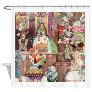 Vintage Alice Wonderland Shower Curtains