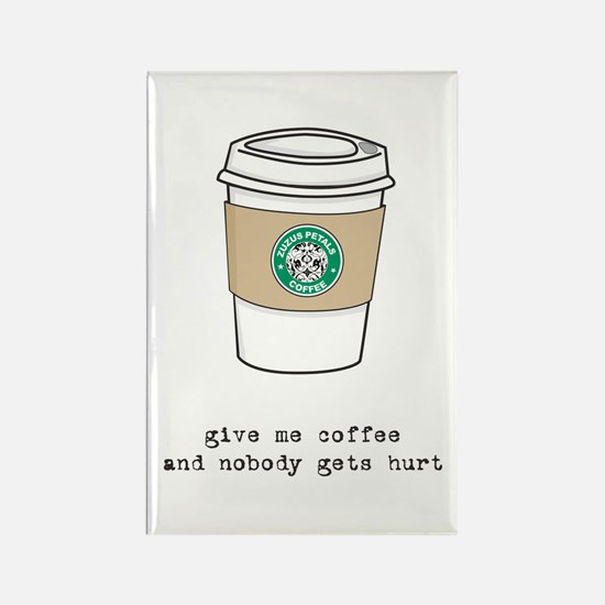 gimme coffee rectangle magnet