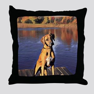 Rr At The Dock Throw Pillow